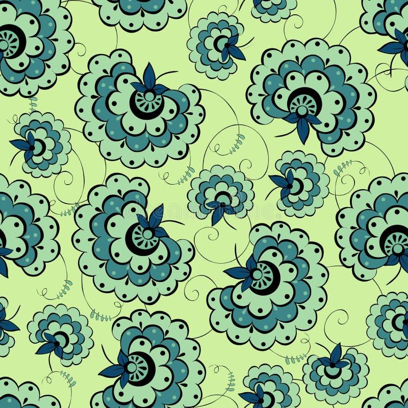 Romantisch uitstekend bloem naadloos patroon vector illustratie