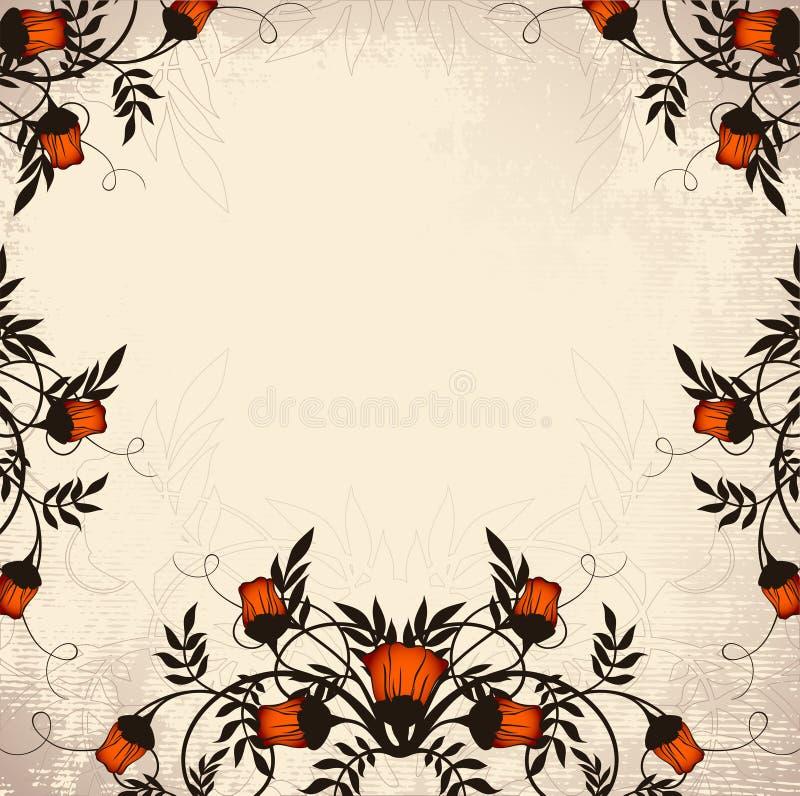 Romantisch uitstekend frame vector illustratie