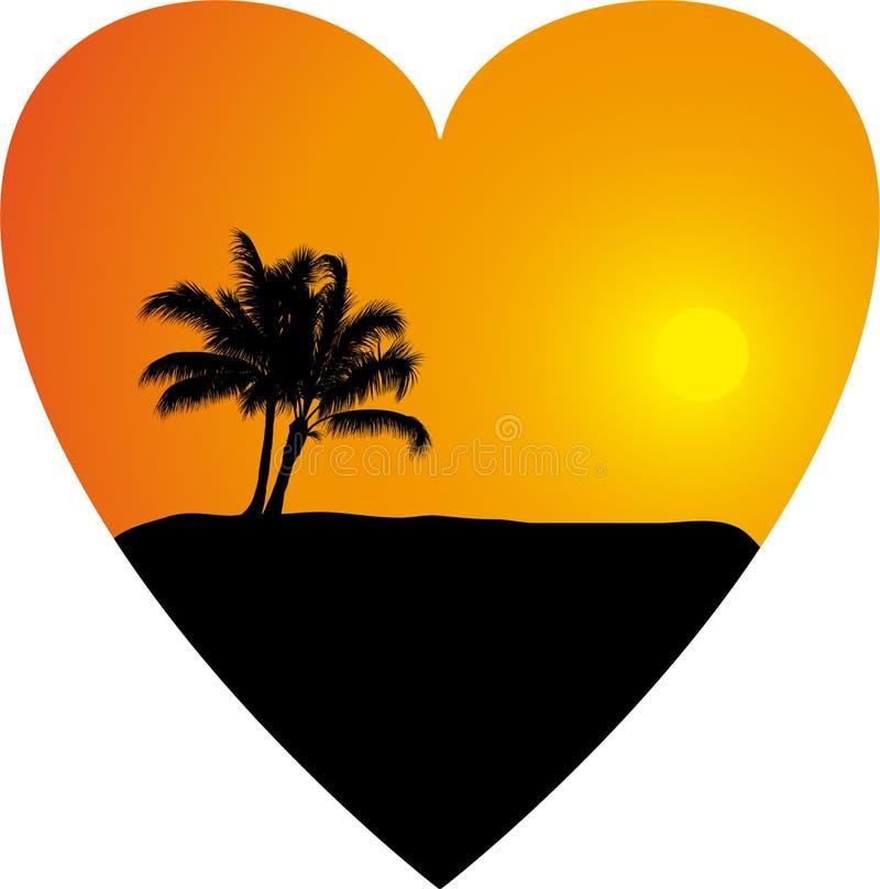 Romantische achtergrond met palm