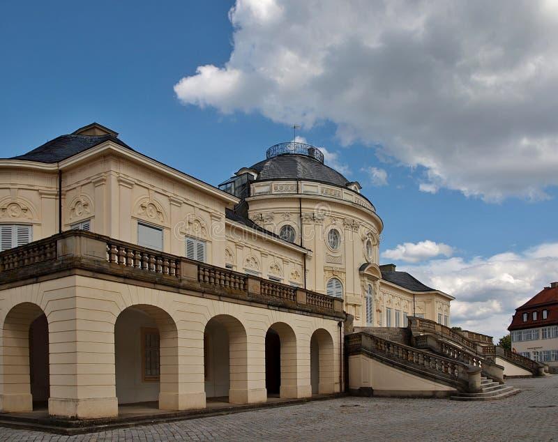 Romantische Architektur in Stuttgart, Schloss Schloss-Einsamkeit stockbild