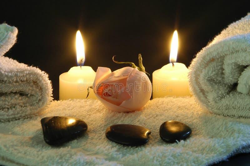 Romantische Badekurortnacht stockbild