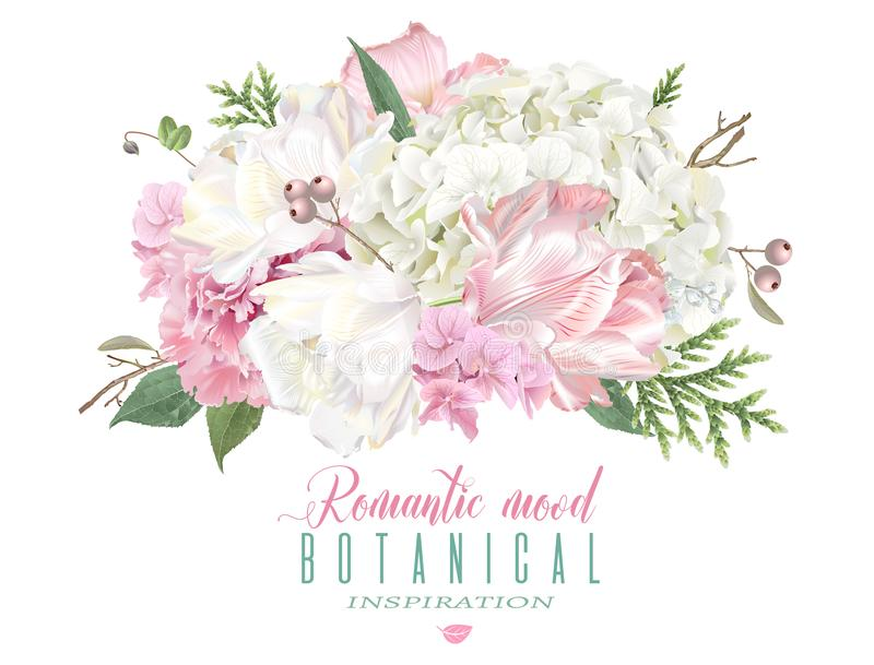 Romantische Blumenzusammensetzung vektor abbildung