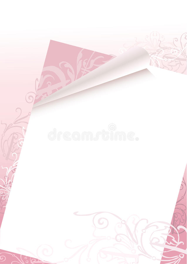 Romantische brievenachtergrond vector illustratie
