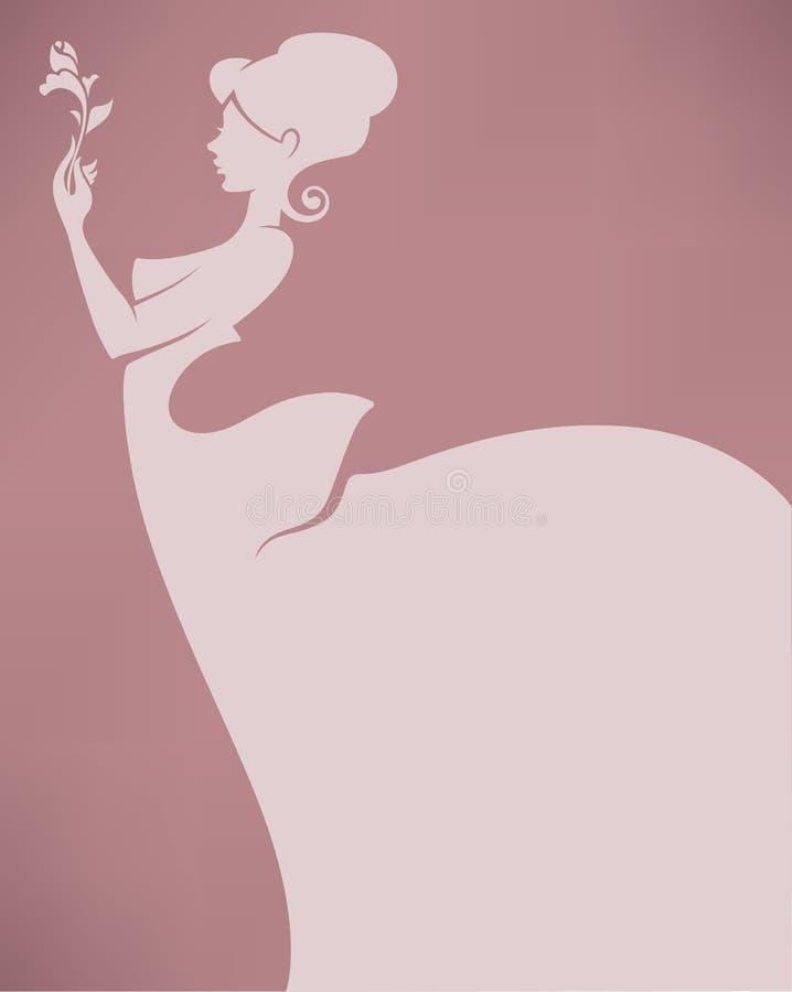 Romantische bruid vector illustratie