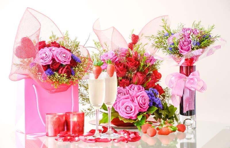 Romantische decoratie voor de Dag van Valentine ` s royalty-vrije stock foto