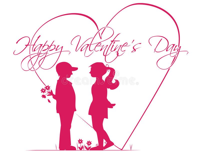 Download Romantische Geschichte Des Valentinstags Vektor Abbildung   Bild:  49347335
