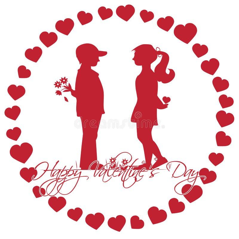 Download Romantische Geschichte Des Valentinstags Vektor Abbildung   Bild:  65434306