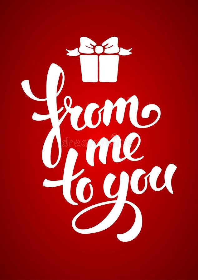 Romantische giftkaart stock illustratie