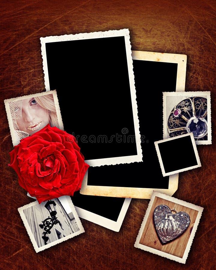 Romantische grunge Ränder stockfoto