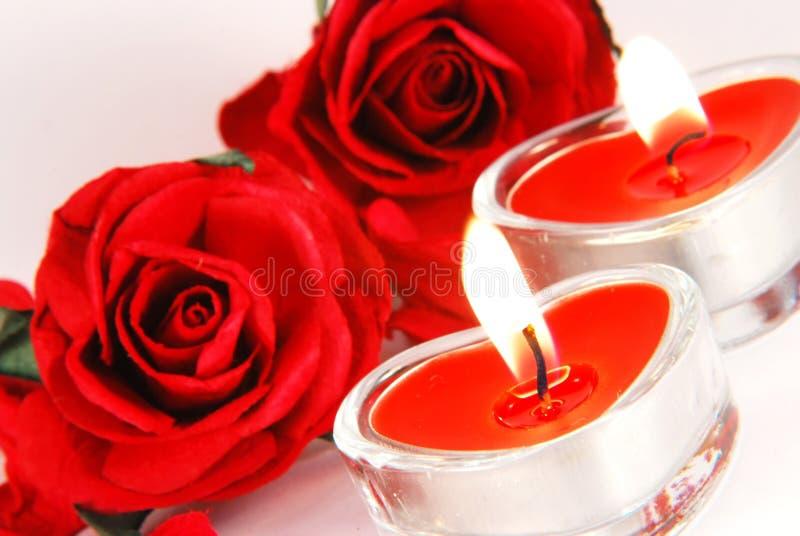 Romantische kaarsen royalty-vrije stock fotografie