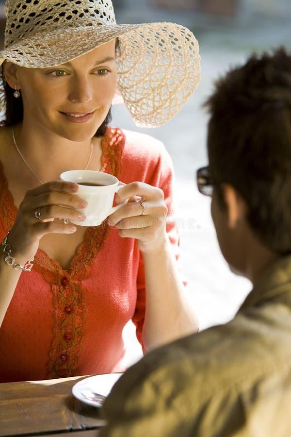 Romantische Koffie royalty-vrije stock fotografie