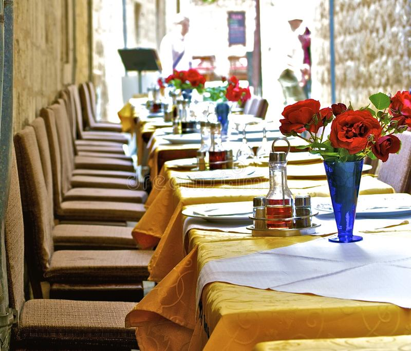 Romantische maaltijd royalty-vrije stock afbeelding