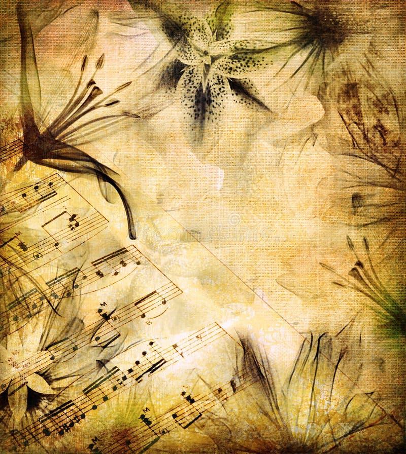 Romantische Melodie vektor abbildung