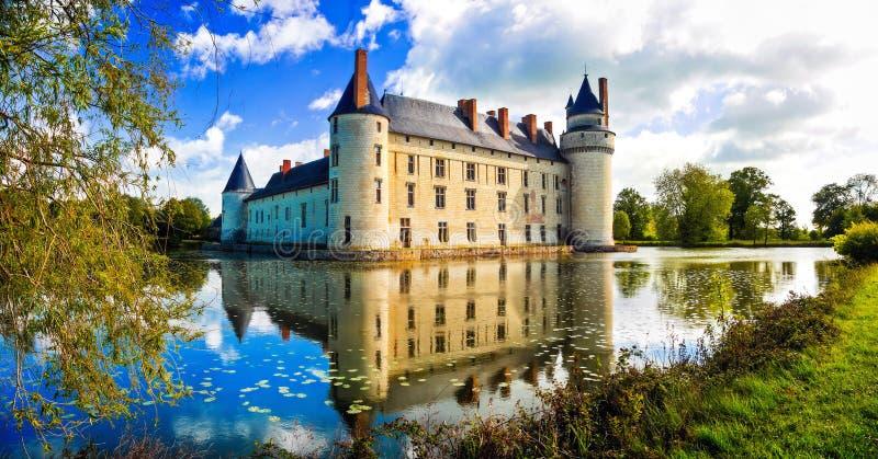 Romantische middeleeuwse kastelen van de Loire-vallei, Plessis Bourre, Frankrijk royalty-vrije stock foto's