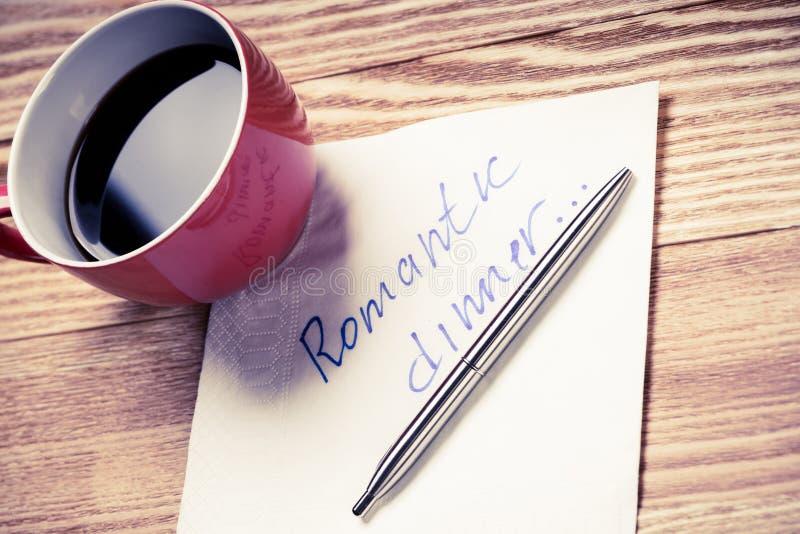 Download Romantische Mitteilung Geschrieben Auf Serviette Stockbild - Bild von bruch, niemand: 96926889