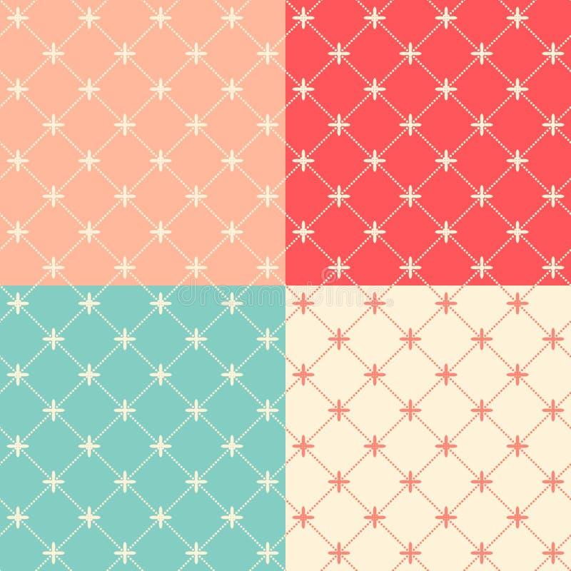 Romantische Naadloze Patroon Vectorillustratie Als achtergrond vector illustratie