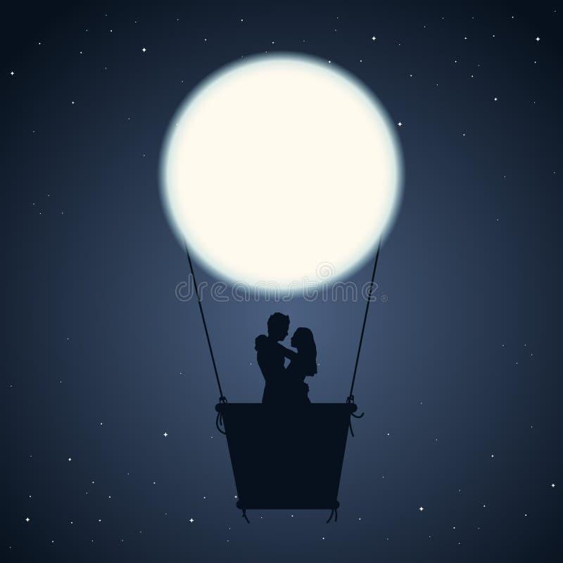 Romantische Nacht royalty-vrije illustratie