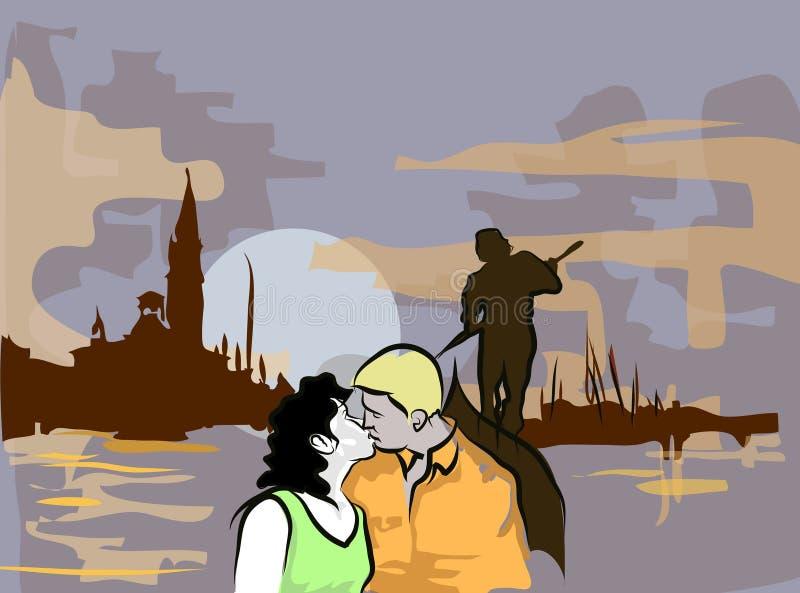 Romantische Nacht stockbilder