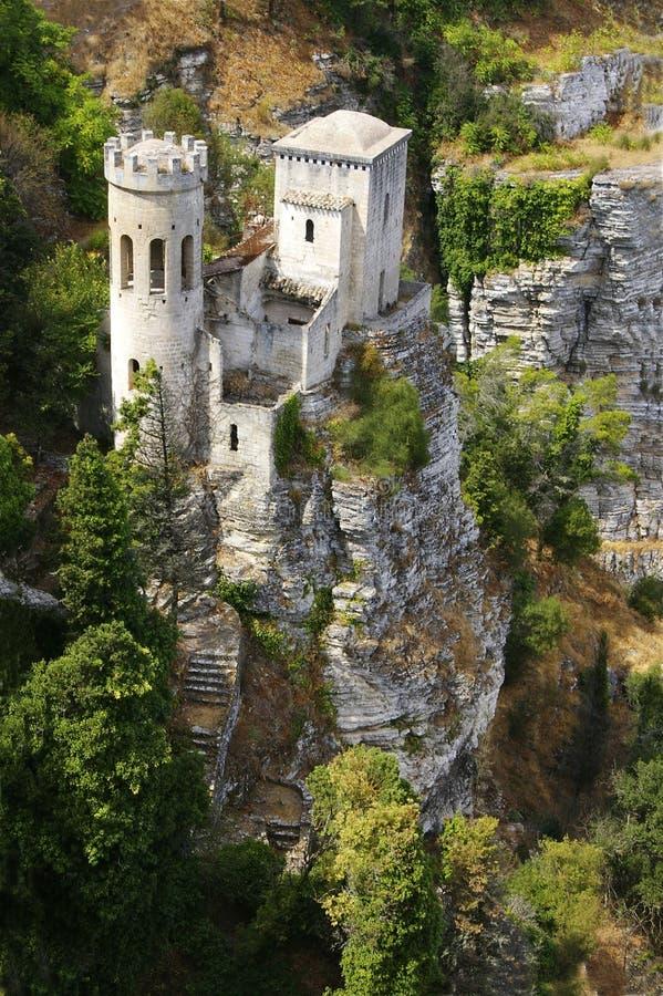 Romantische oude villa stock fotografie