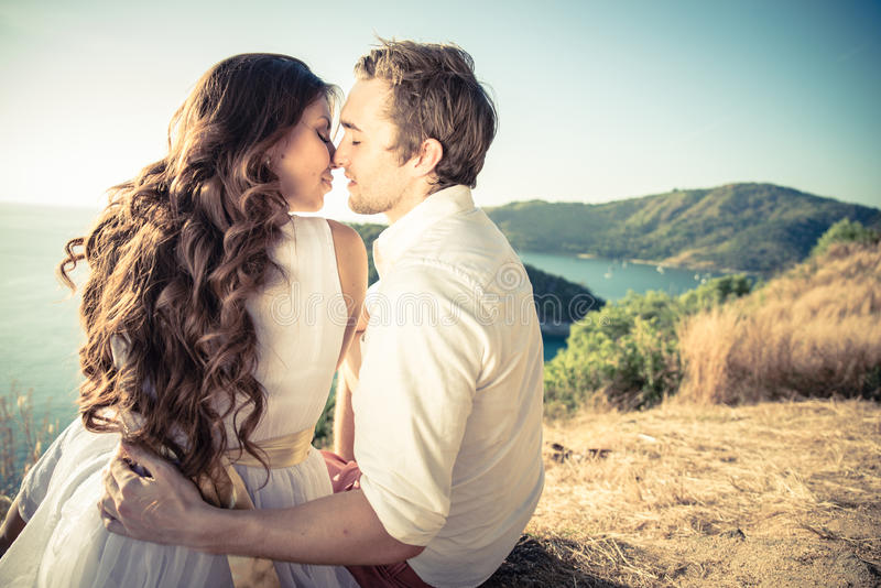 Romantische Paare stockbilder