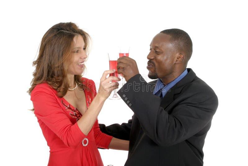 Romantische Paare, die 2 feiern stockfoto