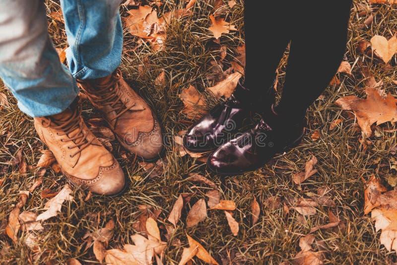 Romantische Paare im Herbst stockbild