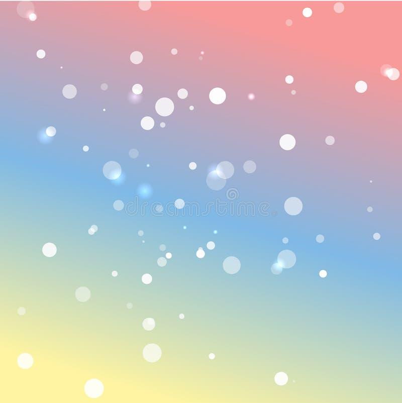 Romantische pastelkleuren vectorachtergrond royalty-vrije illustratie