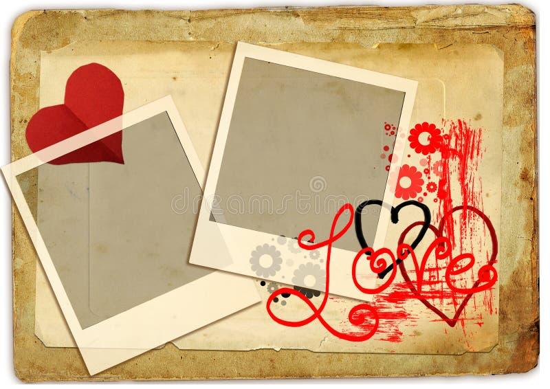 Romantische retro stock illustratie