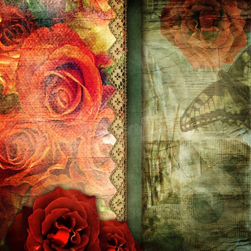 Romantische retro achtergrond vector illustratie