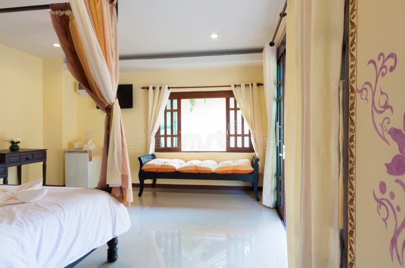 Romantische slaapkamer stock afbeelding