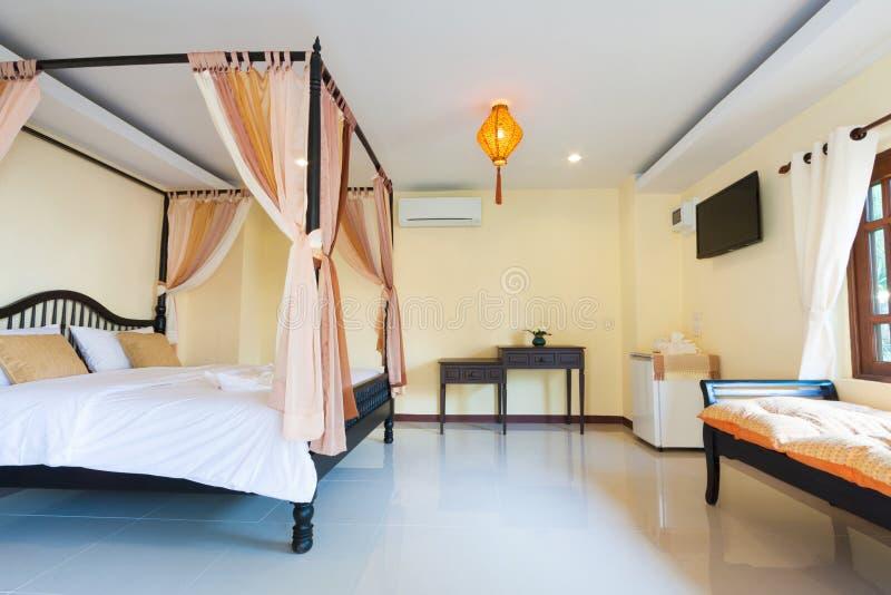 Romantische slaapkamer royalty-vrije stock foto's