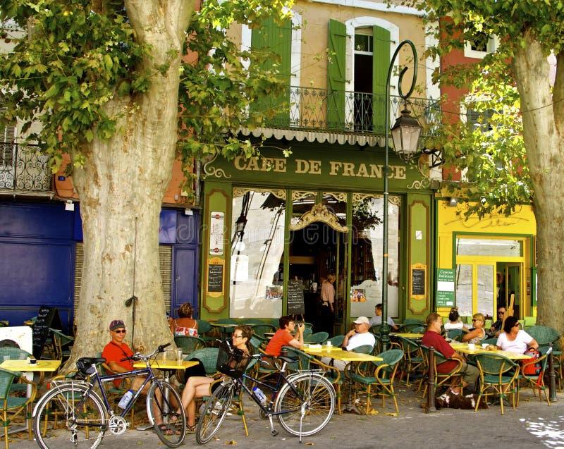 Romantische straatkoffie, de Provence, Frankrijk royalty-vrije stock foto