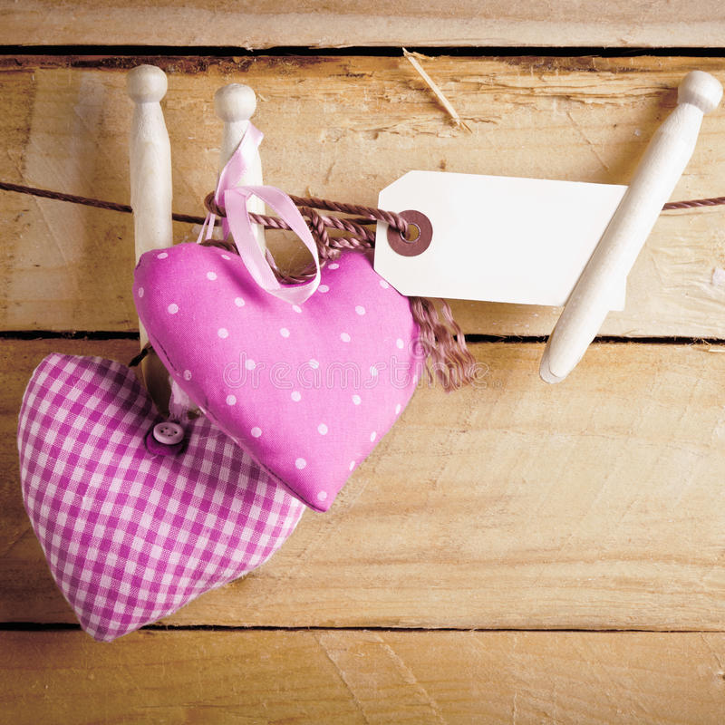 Romantische Textilinnere mit unbelegtem Kennsatz lizenzfreie stockfotografie