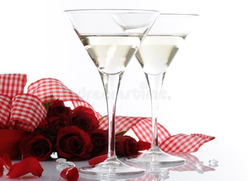 Romantische toost royalty-vrije stock afbeeldingen