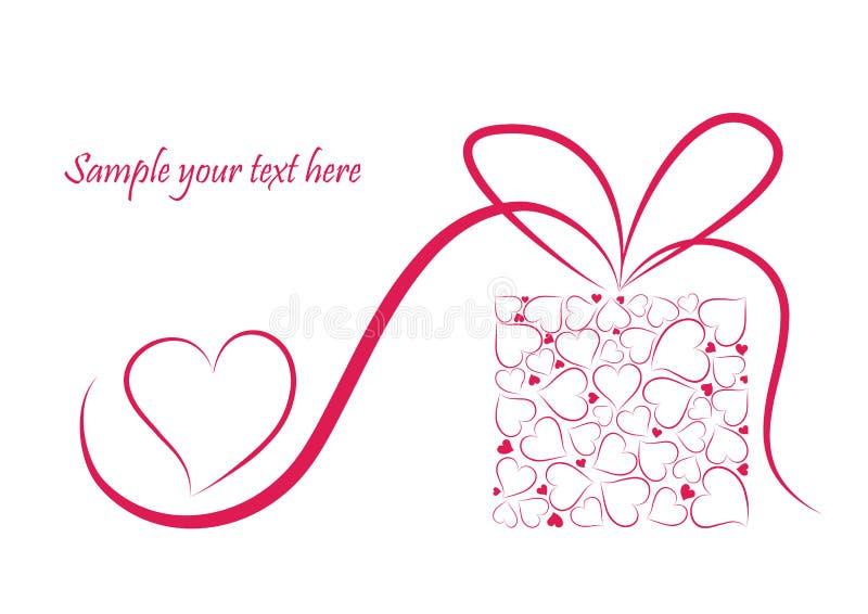 Romantische valentijnskaartachtergrond royalty-vrije illustratie