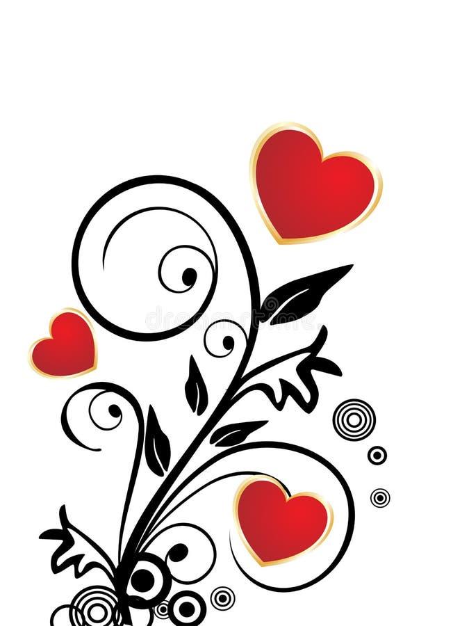 Romantische Valentinsgrußinnere lizenzfreie abbildung