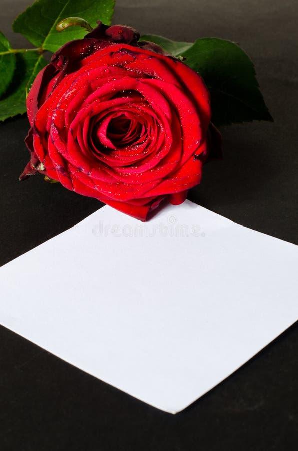 Romantische Valentinsgrußmitteilung stockfotografie