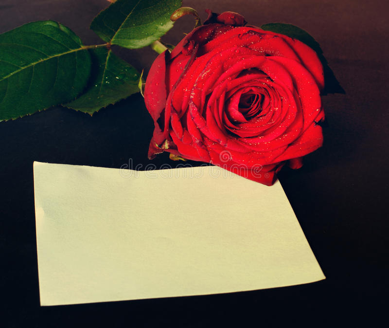 Romantische Valentinsgrußmitteilung stockbilder
