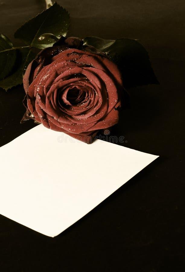 Romantische Valentinsgrußmitteilung lizenzfreie stockfotografie