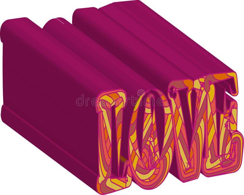 Romantische Valentinsgru?tagesliebes-Gru?karte mit Herzen Vektorillustration - Liebestag Karte f?r den 14. Februar Die Aufschrift lizenzfreie abbildung
