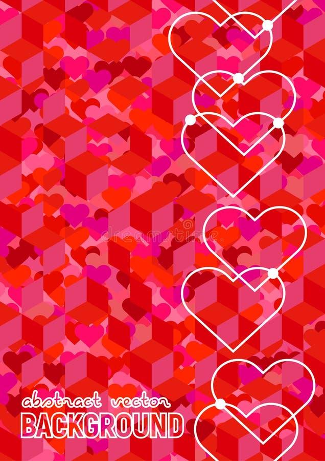 Romantische vectorachtergrond vector illustratie