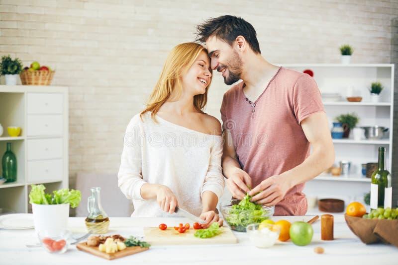 Romantische vegetariërs royalty-vrije stock foto's
