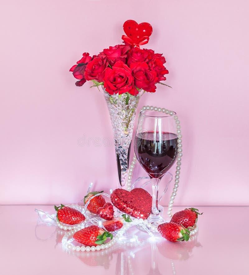 Romantische viering van valentijnskaart` s dag stock foto's