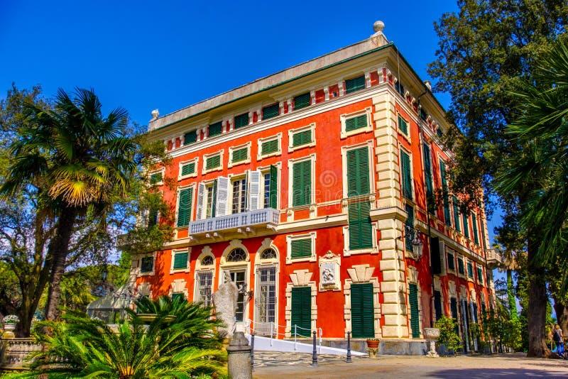 Romantische villa Durazzo - het gebied van Genua - van Ligurië - Italië stock foto