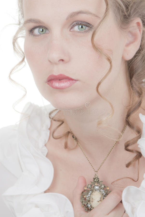 Romantische vrouw stock afbeelding