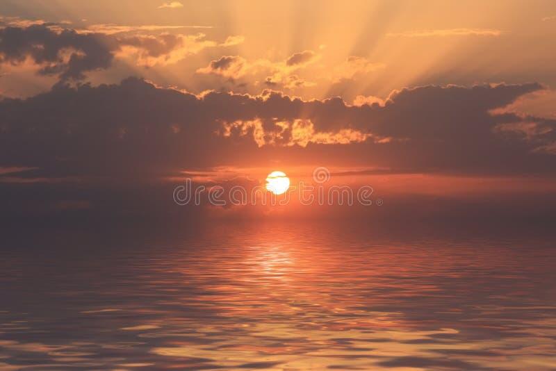 Romantische zonsondergang stock afbeelding