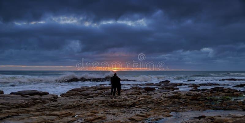 Romantische zonsondergang stock foto