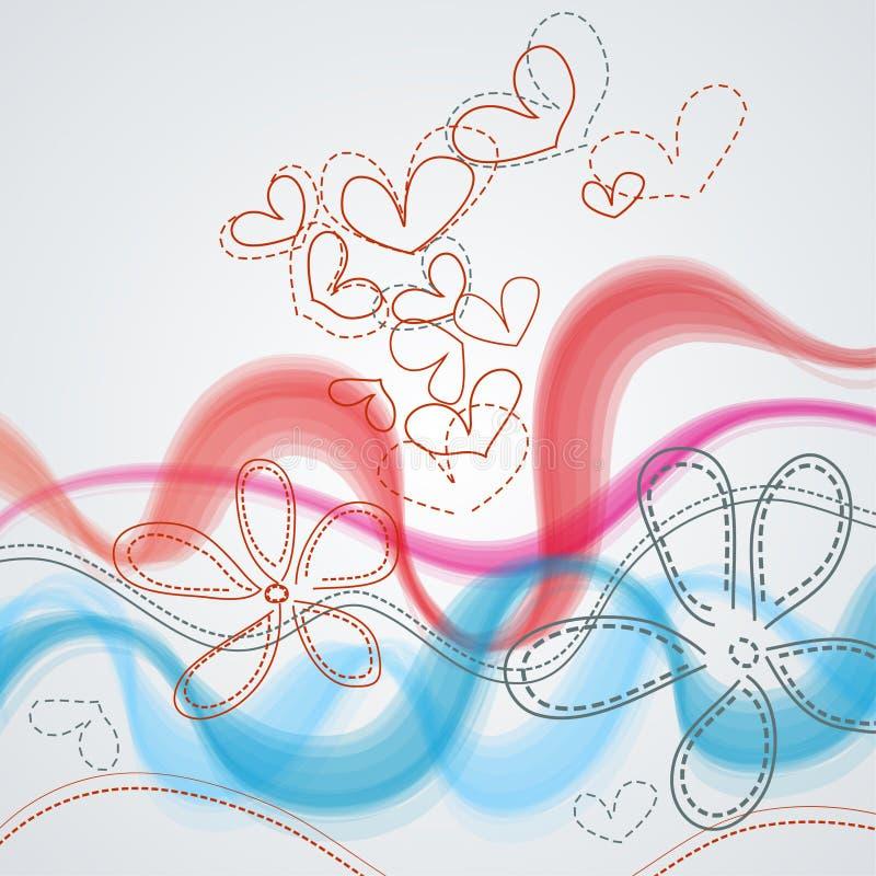 Romantischer Blumenhintergrund vektor abbildung