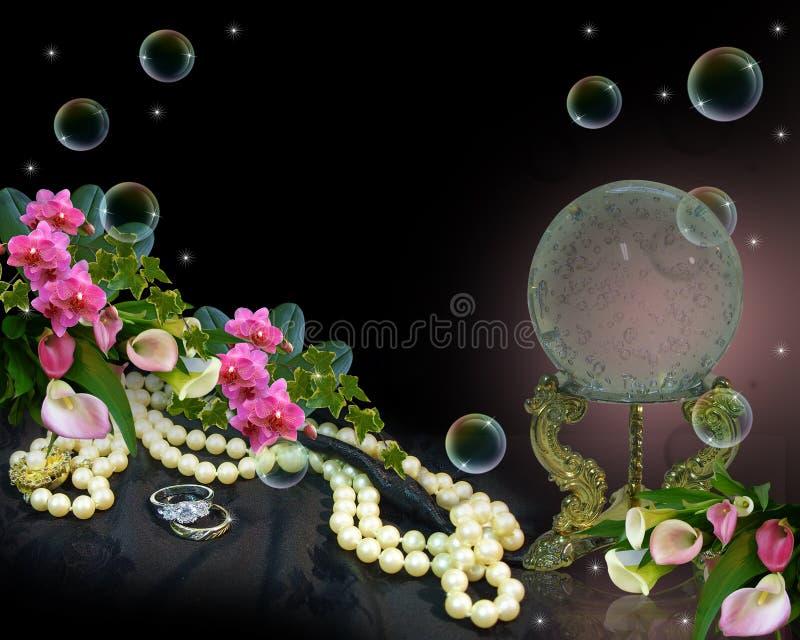 Romantischer Hintergrund der Kristallkugel vektor abbildung