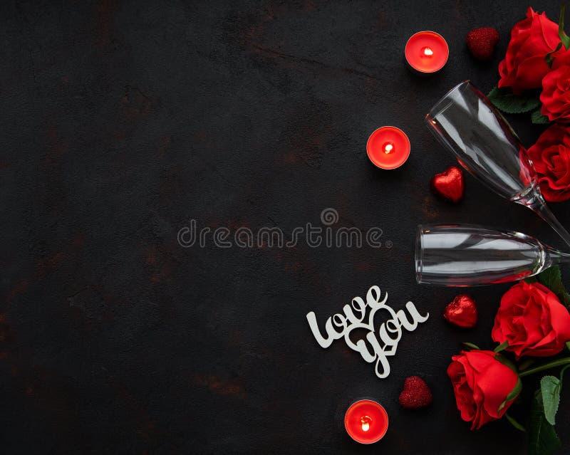 Romantischer Hintergrund des Valentinstags stockbild